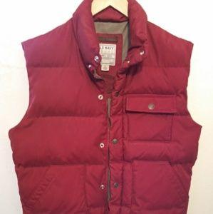 Old Navy Mens Medium - Large Red Work Puffy Vest